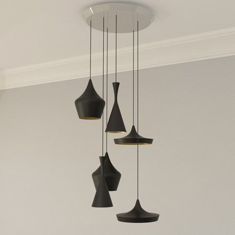 Beat 6 Light Multipoint Pendant By Tom Dixon, from Tom Dixon