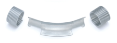 Фиксатор поворота Rehau Rautitan 25 мм. 45° отвод направляющий с кольцами (арт. 11389111002)