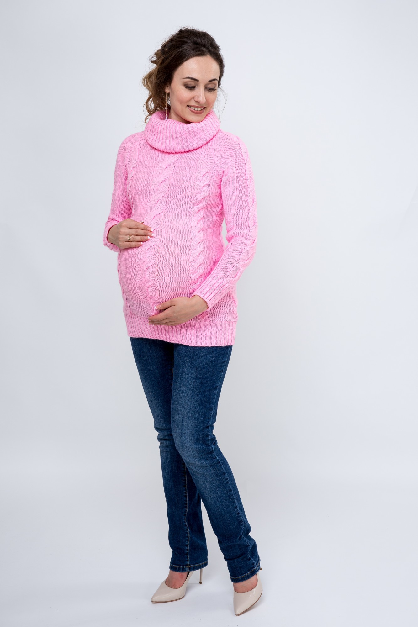 Туника 09068 розовый
