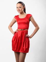 0857-1 Платье женское, красное