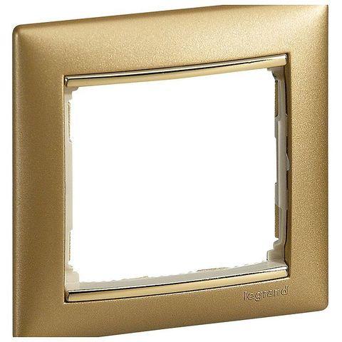 Рамка на 1 пост. Цвет Матовое золото. Legrand Valena Classic (Легранд Валена Классик). 770301