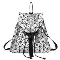 Геометрический рюкзак Silver