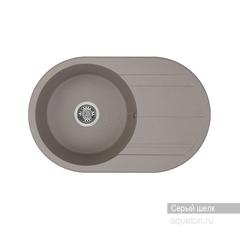 Мойка Акватон Амира 1A712932AI250 для кухни из искусственного камня, серый шелк