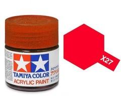 X-27 Краска Tamiya, Прозрачный Красный (Clear Red), акрил 10мл