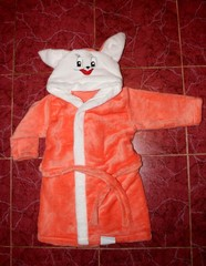 Детский махровый халат Зайка