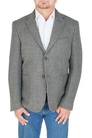 Серый пиджак из смеси шерсти, хлопка и синтетики