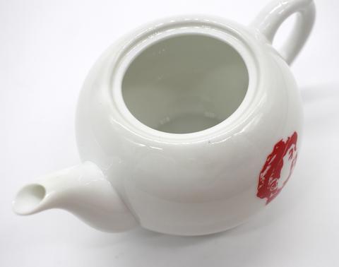 Чайник керамический белый с портретом Мао, 200мл.