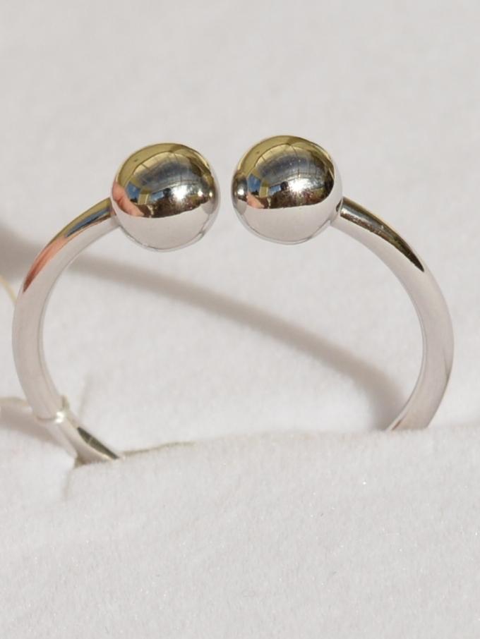 Шарики 1+1 (кольцо из серебра)