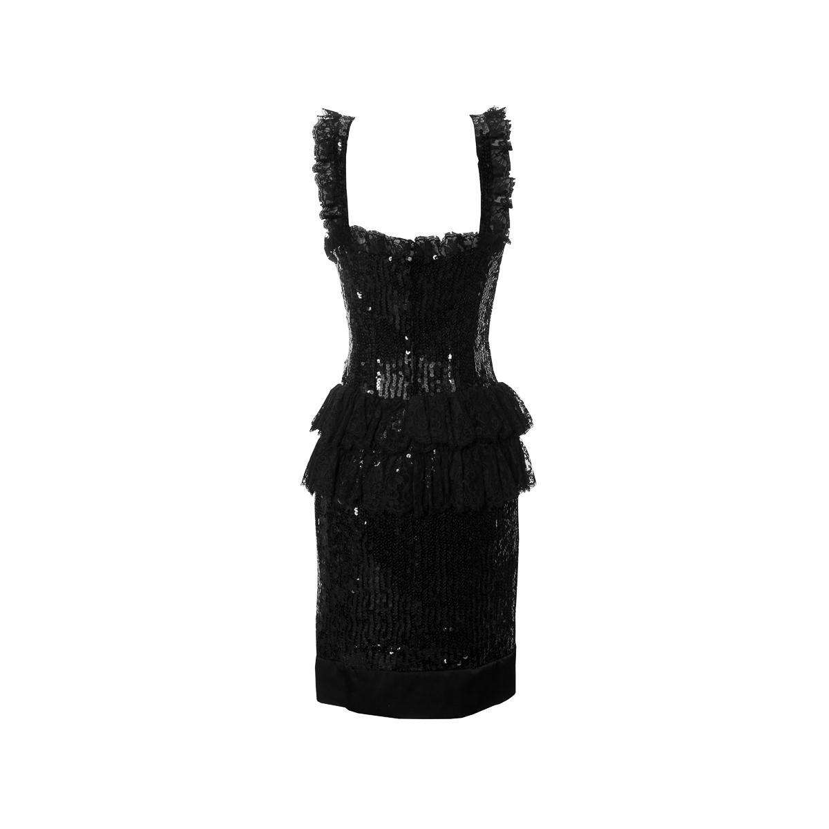 Элегантное коктейльное платье черного цвета от Chanel, 38 размер.