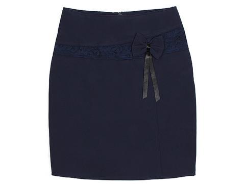 3017 юбка детская, темно-синяя