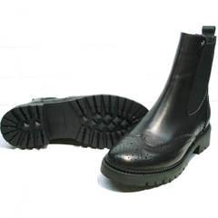 Ботинки женские демисезонные кожаные Jina 7113 Leather Black