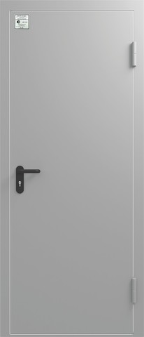 Дверь входная Сибирь ДМП EI-60, 1 замок, 1,5 мм  металл, (RAL 7040+RAL 7040)
