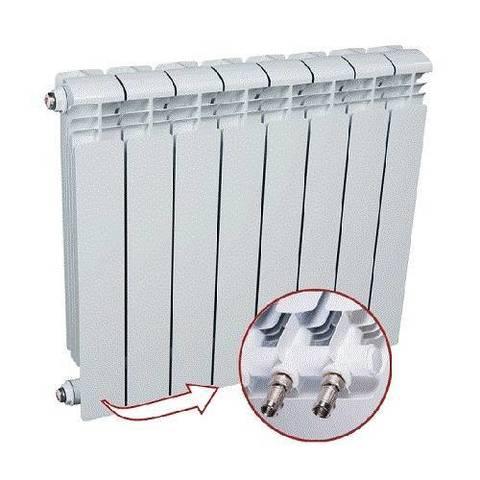 Радиатор алюминиевый секционный Rifar Alum Ventil 500 - 13 секций (подключение нижнее слева)