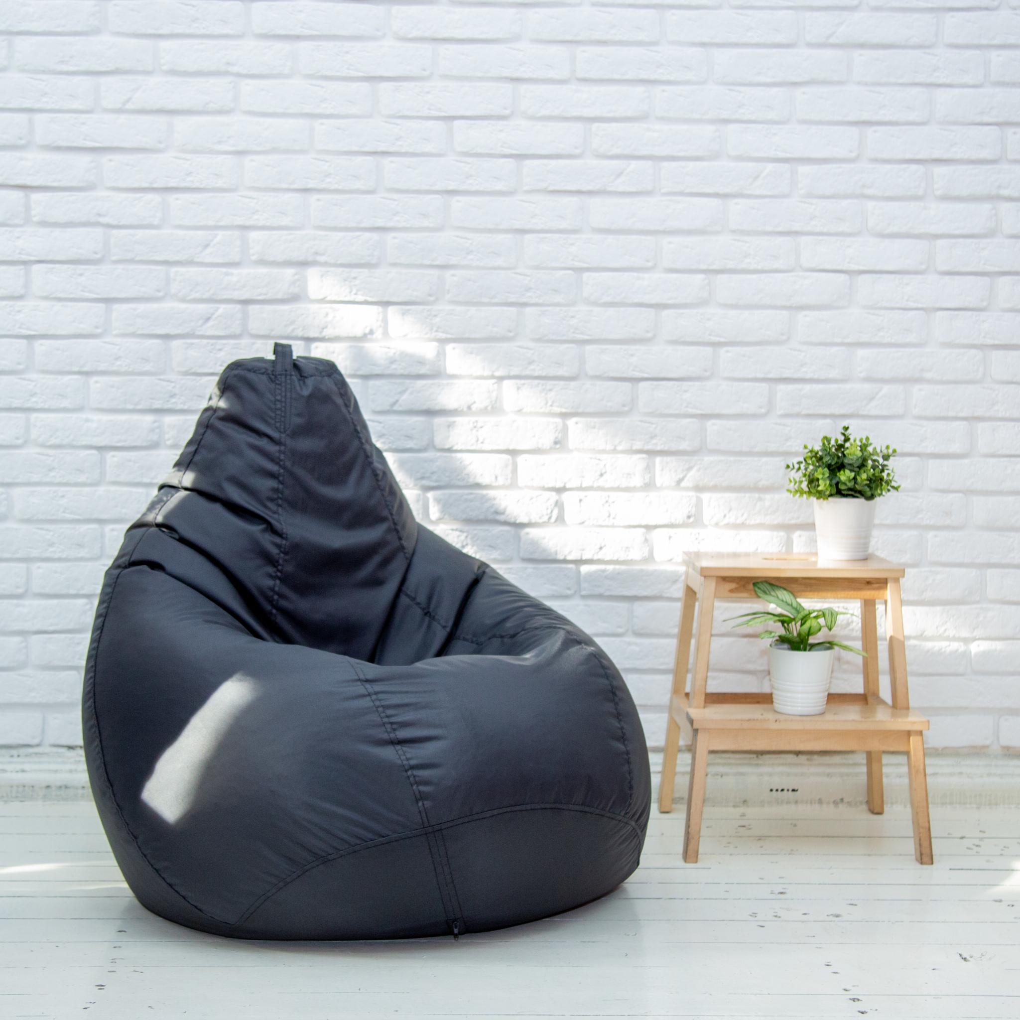 Пуф-мешок-Груша-черная