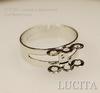 Основа для кольца с петельками (6 петелек) (цвет - античное серебро)