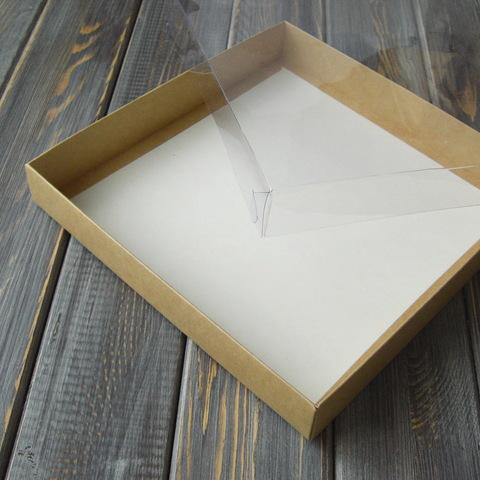 Коробка с прозрачной крышкой (20х20х3см)
