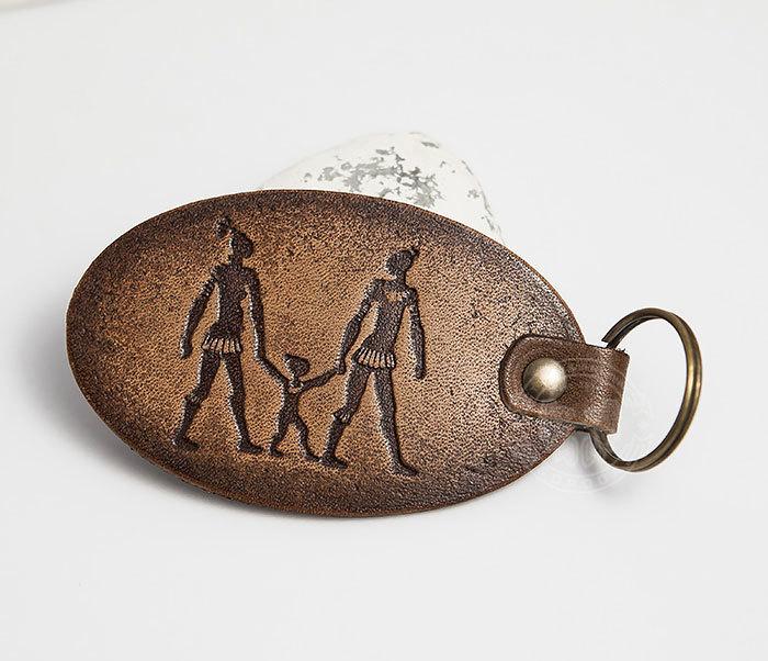 BY27-01-13 Брелок «Ключи к семейному счастью» из натуральной кожи фото 03