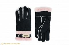Перчатки UGG Fashion Belt Glove Black Pink