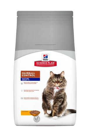 купить ХИЛЛС Hill's Science Plan Hairball Control сухой корм для кошек старше 7 лет для выведения шерсти курица 1.5 кг