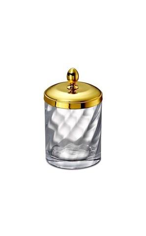 Емкость для косметики большая 88804O Salomonic Spiral Gold от Windisch