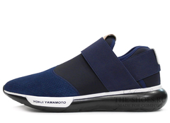 Кроссовки Мужские Y-3 Qasa Racer Low Blue Black Suede Edition