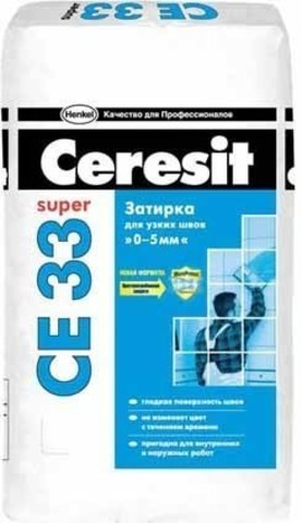 Затирка для швов с антигрибковым эффектом жасмин фольга 2кг Ceresit CE 33 Группа №3