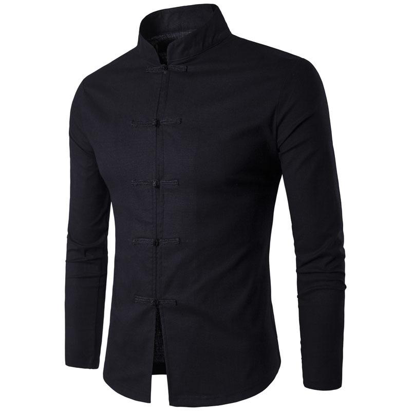мужские рубашки Китайская традиционная мужская рубашка  с длинным рукавом 3869386600_2076024693.jpg