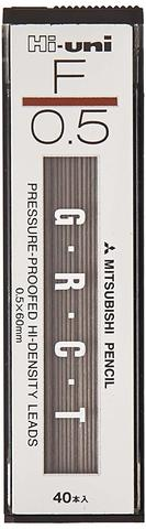 Грифели 0,5 мм Mitsubishi Hi-Uni F