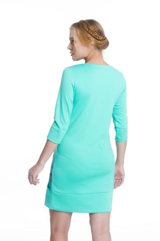 Платье 07961 зеленый