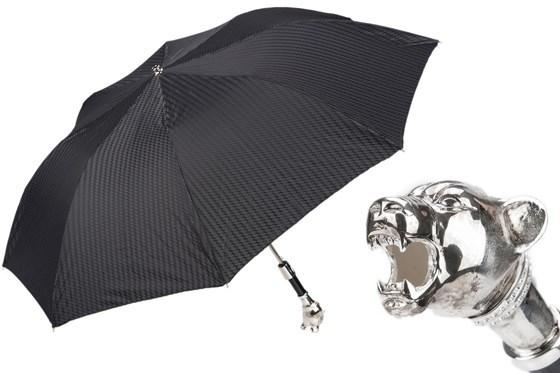 Зонт складной Pasotti Vintage Panther Folding Umbrella, Италия.