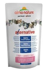 Корм для взрослых кошек, Almo Nature Alternative Salmon and Rice, со свежим лососем (55% мяса)