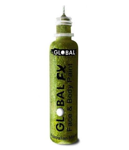 Гель-блестки Global 36 мл салатовые