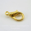 Замок - карабин 14 мм (цвет - золото), 5 штук