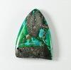 Кабошон Яшма Императорская (прессов., тониров), цвет - зеленый, 29х22 мм