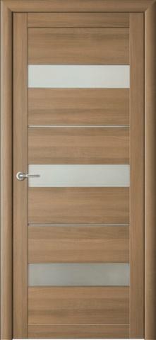 Дверь Фрегат ALBERO Прага, стекло матовое, цвет кипарис янтарный, остекленная