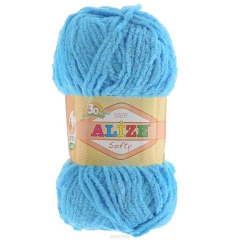 Пряжа Softy ( 128 голубой ) 115 м, 50 г