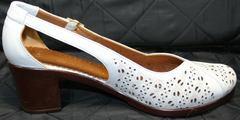 Туфли босоножки на каблуке Marani Magli 031 405 White.