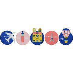 Значки-липучки комплект Подорож