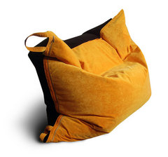 Кресло подушка Оранжево-Черная