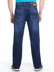 M51-P1198L джинсы мужские утепленные, синие