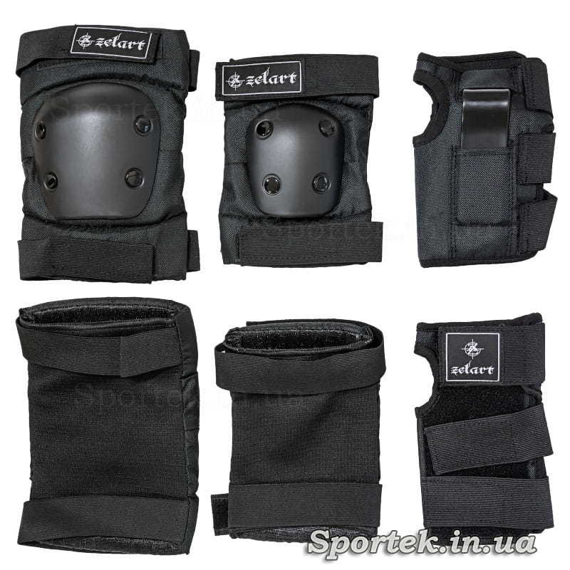 Защита для суставов  (черного цвета) при катании на роликах, скейтбордах