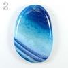 Подвеска Агат Крэкл (тониров), цвет - голубой, 52-59 мм
