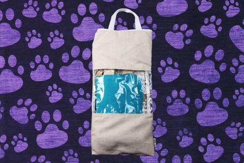 Гамак для кошек и собак премиум бирюзово-голубой GK2BG