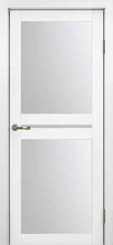 > Экошпон Optima Porte Турин 520.222, стекло матовое, цвет белый монохром, остекленная