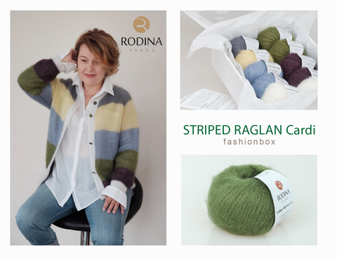 STRIPED RAGLAN Cardi Fashionbox