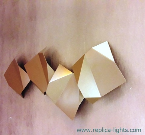 replica Origami Quadruple LED Wall sconce ( gold )