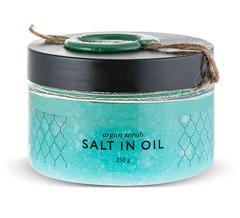Аргановый скраб солевой salt in oil, Huilargan
