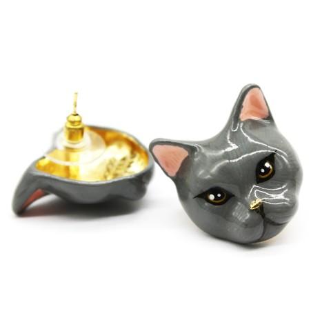 Серьги Кошка Плюм