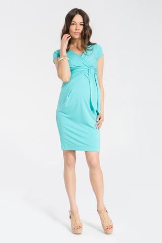 Платье для беременных и кормящих 05383 голубой