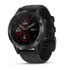 Мужские мультиспортивные часы Garmin Fenix 5 Plus Sapphire - черные с черным ремешком 010-01988-01